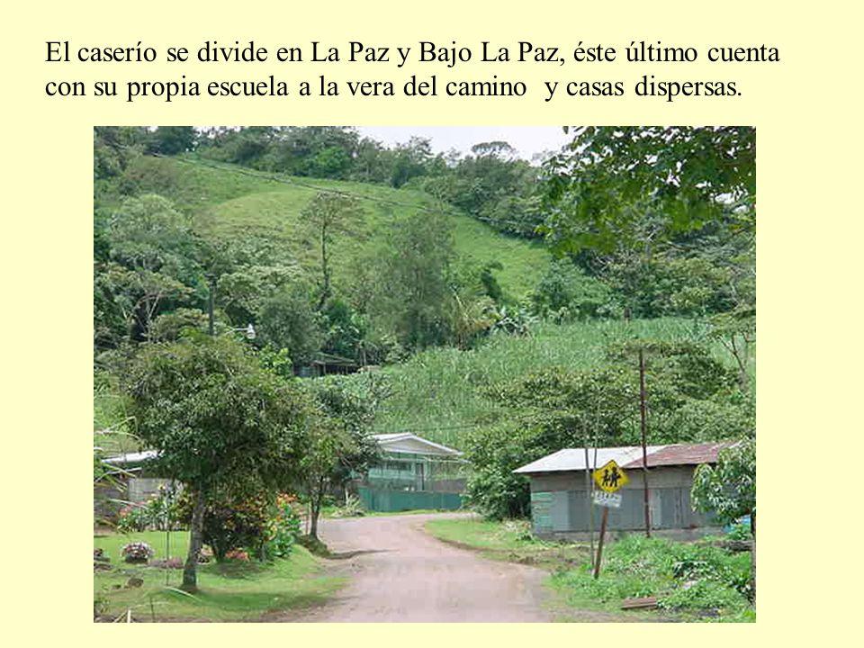 El caserío se divide en La Paz y Bajo La Paz, éste último cuenta con su propia escuela a la vera del camino y casas dispersas.