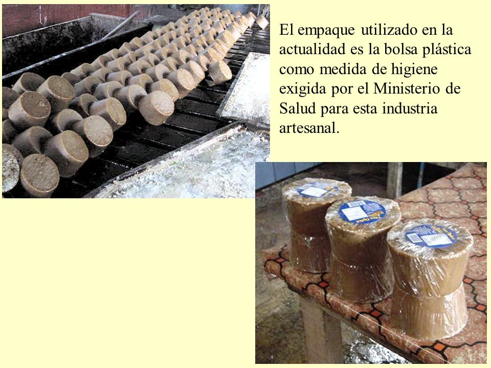 El empaque utilizado en la actualidad es la bolsa plástica como medida de higiene exigida por el Ministerio de Salud para esta industria artesanal.