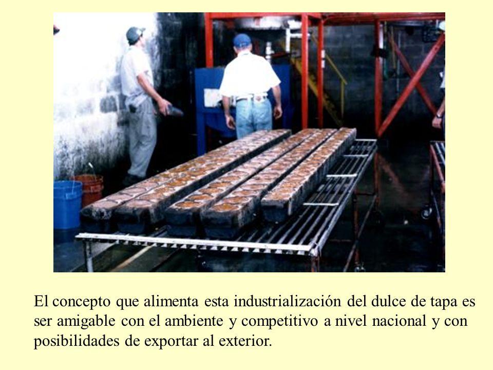 El concepto que alimenta esta industrialización del dulce de tapa es ser amigable con el ambiente y competitivo a nivel nacional y con posibilidades de exportar al exterior.