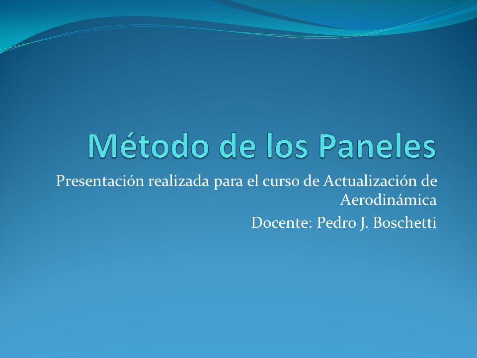 Presentación realizada para el curso de Actualización de Aerodinámica Docente: Pedro J. Boschetti