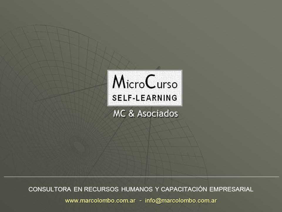 MC & Asociados CONSULTORA EN RECURSOS HUMANOS Y CAPACITACIÓN EMPRESARIAL www.marcolombo.com.ar - info@marcolombo.com.ar