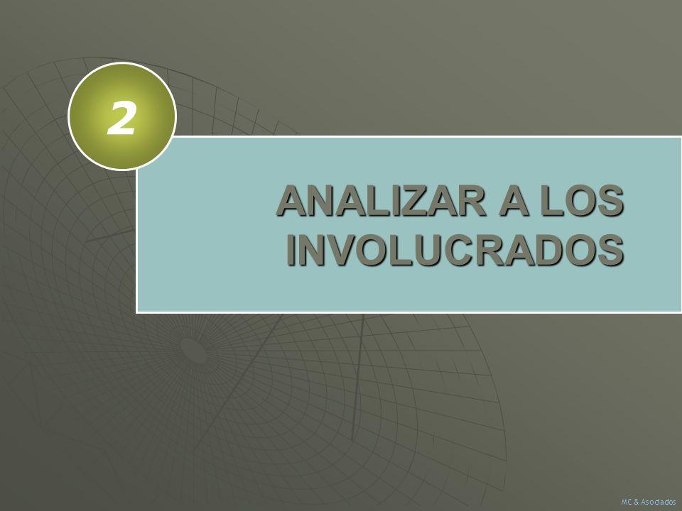 ANALIZAR A LOS INVOLUCRADOS 2 MC & Asociados