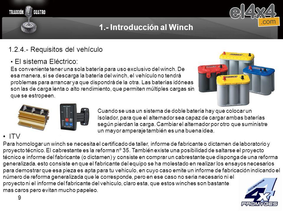 10 1.- Introducción al Winch Caja de relés.