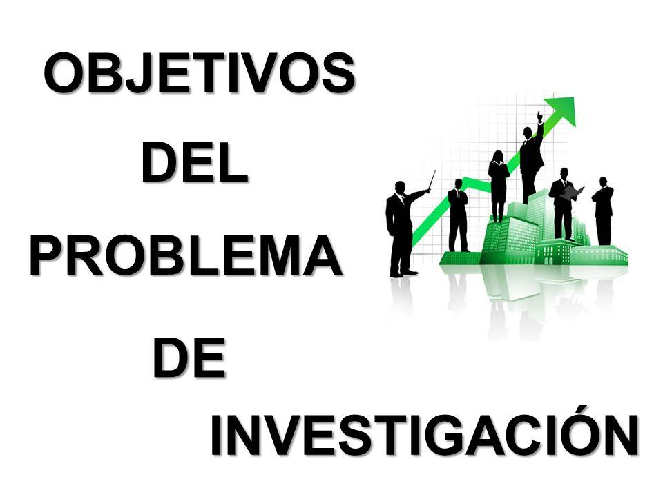 DEL PROBLEMA OBJETIVOS INVESTIGACIÓN DE