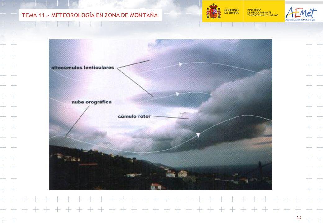 13 TEMA 11.- METEOROLOGÍA EN ZONA DE MONTAÑA
