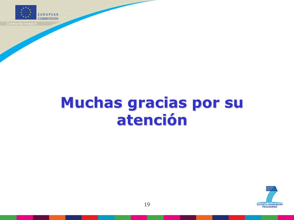 19 Muchas gracias por su atención