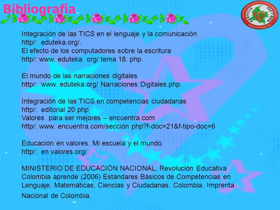Proyecciones Elaborar la cartilla a través de las TICS. Realizar con toda la comunidad Educativa la fiesta de los valores. Optimizar las competencias