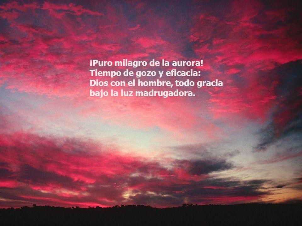 El hombre estrena claridad de corazón, cada mañana; se hace la gracia más cercana y es más sencilla la verdad.