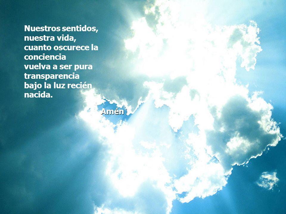 Guárdanos tú, Señor del alba, puros, austeros, entregados; hijos de luz resucitados en la Palabra que nos salva.