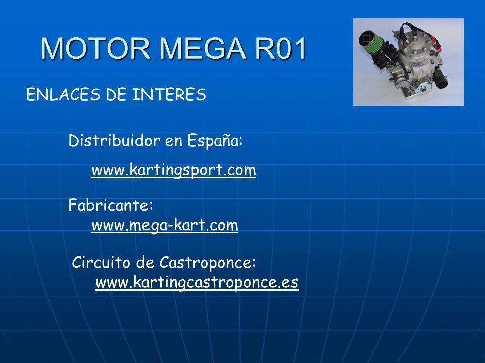 MOTOR MEGA R01 Distribuidor en España: www.kartingsport.com Fabricante: www.mega-kart.com Circuito de Castroponce: www.kartingcastroponce.es ENLACES DE INTERES