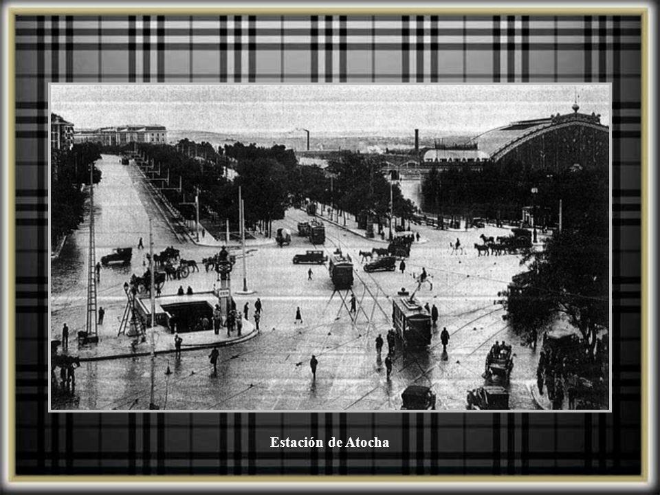 Lado de llegadas de la estación de la estación de Atocha, 1914