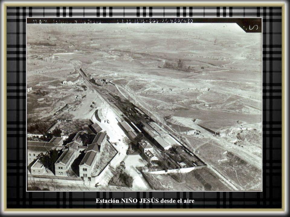 Estación del Niño Jesús. Fue cerrada y desmantelada en 1964. (ya desde los años 50 la línea no transportaba pasajeros, sólo mercancías)