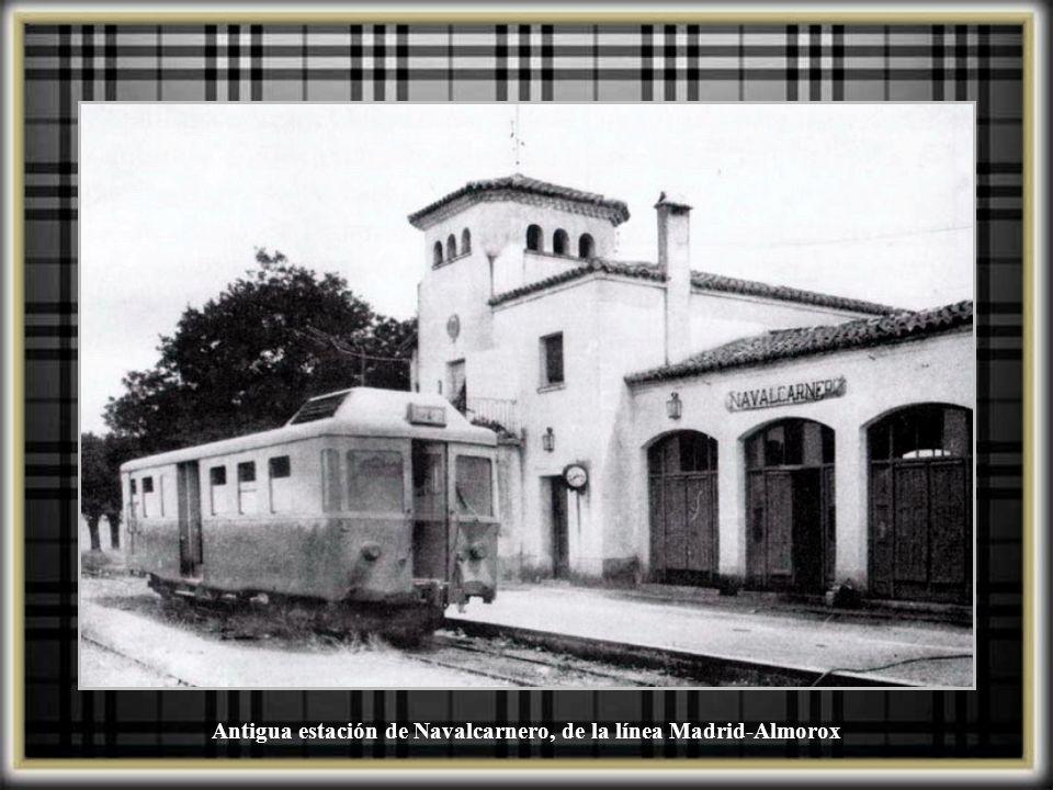 Antigua estación de Campamento, cerca de la Calle Meliloto, y actualmente desaparecida. Perteneció al ferrocarril Madrid-Almorox.