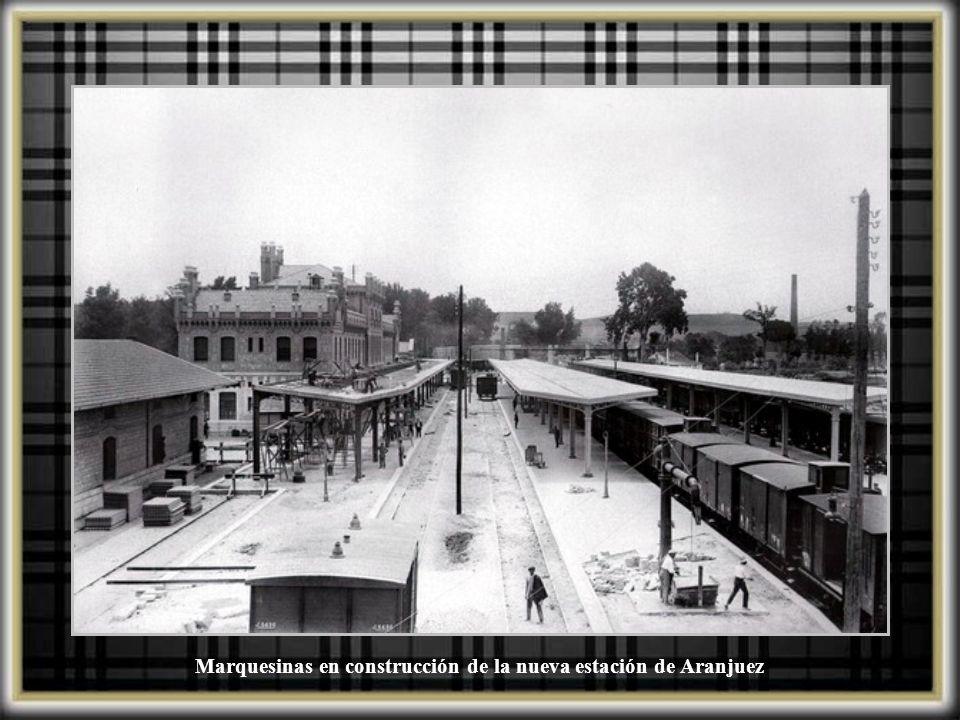 Construcción nueva estación de Aranjuez, 1924