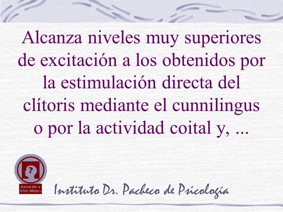 Instituto Dr. Pacheco de Psicología Alcanza niveles muy superiores de excitación a los obtenidos por la estimulación directa del clítoris mediante el