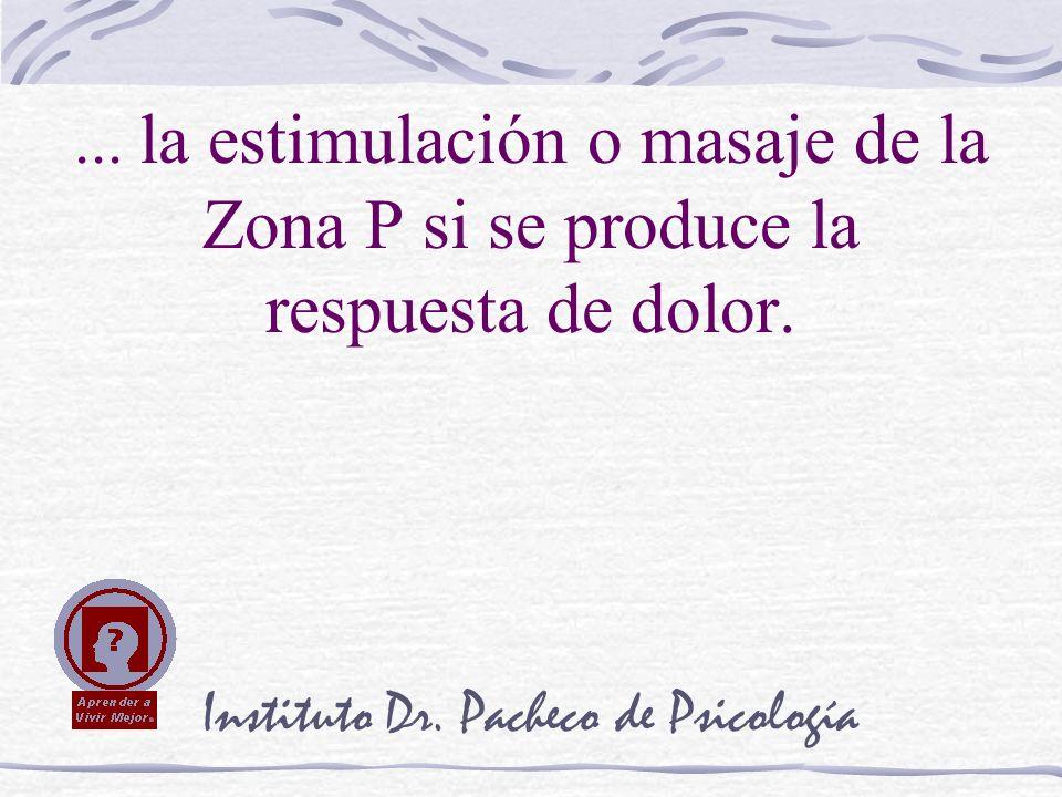 Instituto Dr. Pacheco de Psicología... la estimulación o masaje de la Zona P si se produce la respuesta de dolor.