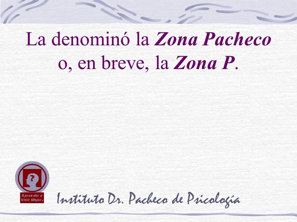 Instituto Dr. Pacheco de Psicología La denominó la Zona Pacheco o, en breve, la Zona P.
