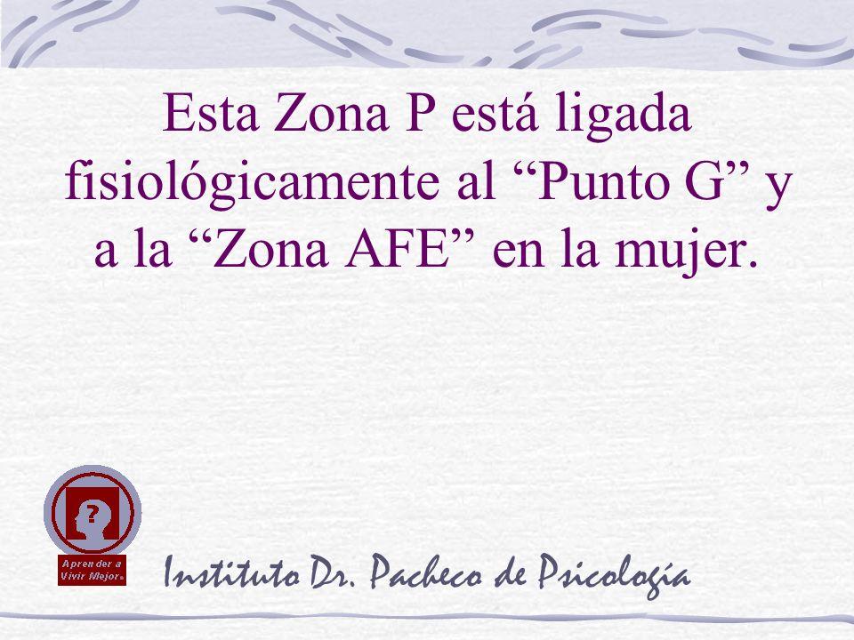 Instituto Dr. Pacheco de Psicología Esta Zona P está ligada fisiológicamente al Punto G y a la Zona AFE en la mujer.