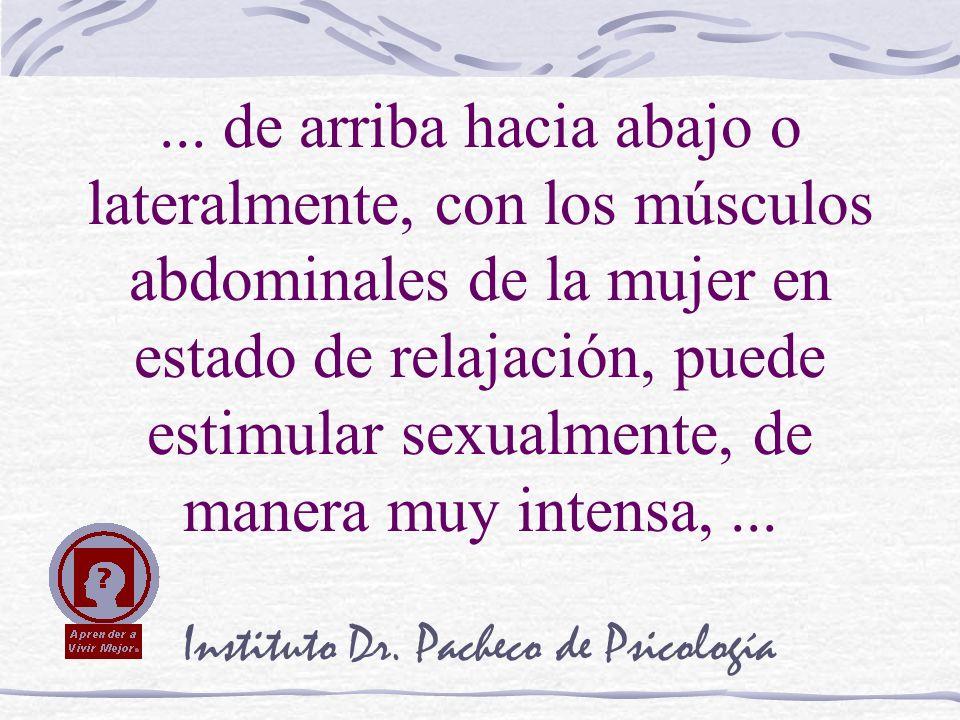 Instituto Dr. Pacheco de Psicología... de arriba hacia abajo o lateralmente, con los músculos abdominales de la mujer en estado de relajación, puede e