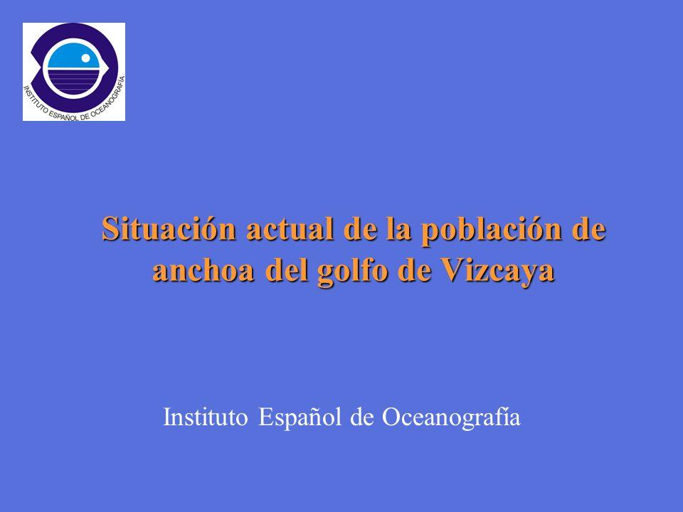 Instituto Español de Oceanografía Situación actual de la población de anchoa del golfo de Vizcaya
