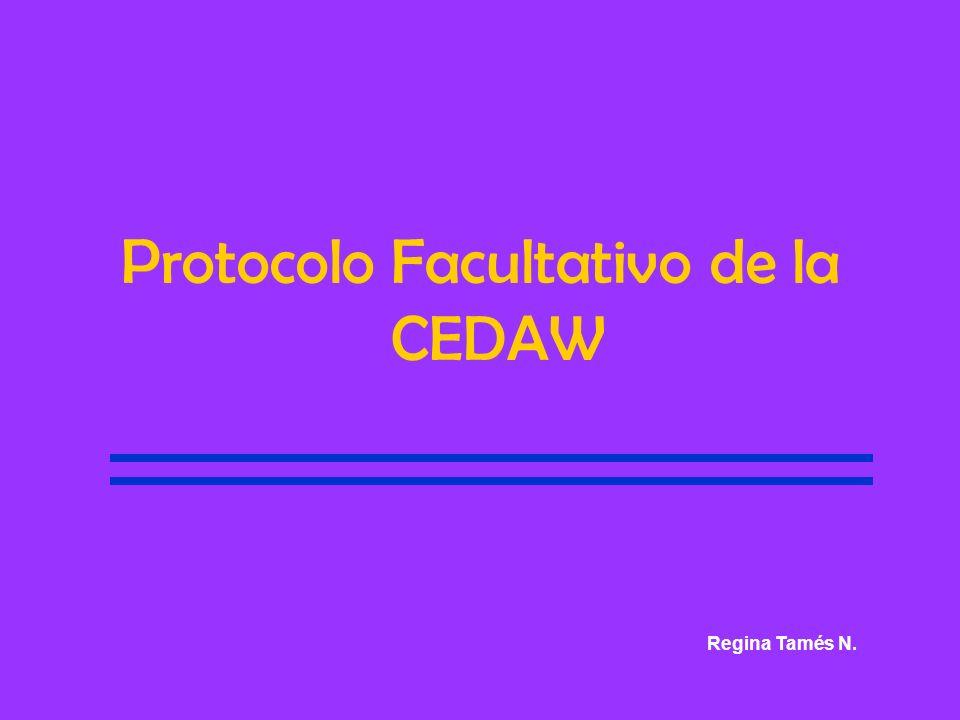 Protocolo Facultativo de la CEDAW Regina Tamés N.