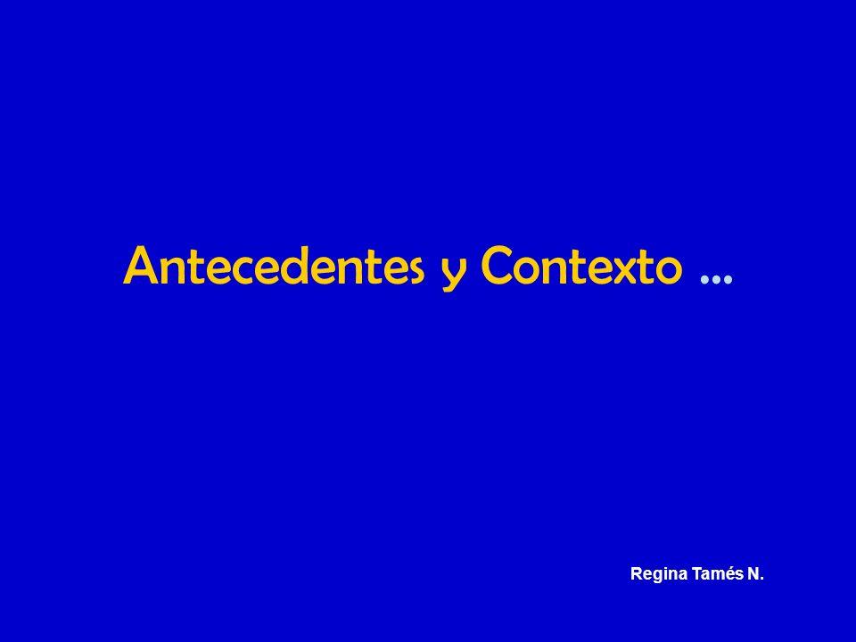Antecedentes y Contexto … Regina Tamés N.
