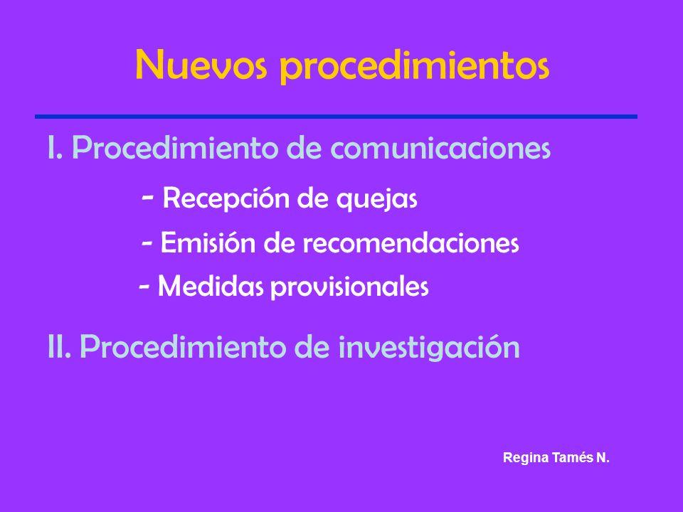 Nuevos procedimientos I.