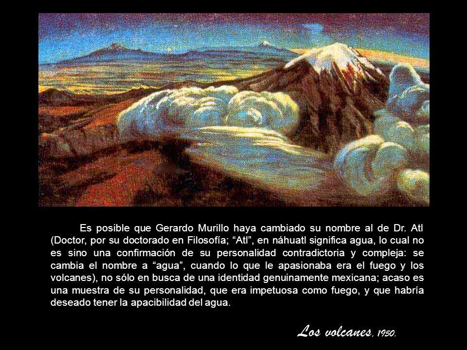 Erupción silenciosa a chorro continuo. Magnífico ejemplo del dibujo tonal, o sea, con empleo del sfumino y polvo negro, en vez de lápiz.