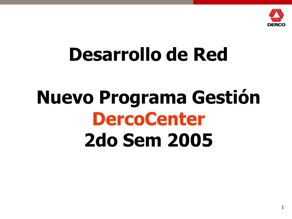 1 Desarrollo de Red Nuevo Programa Gestión DercoCenter 2do Sem 2005
