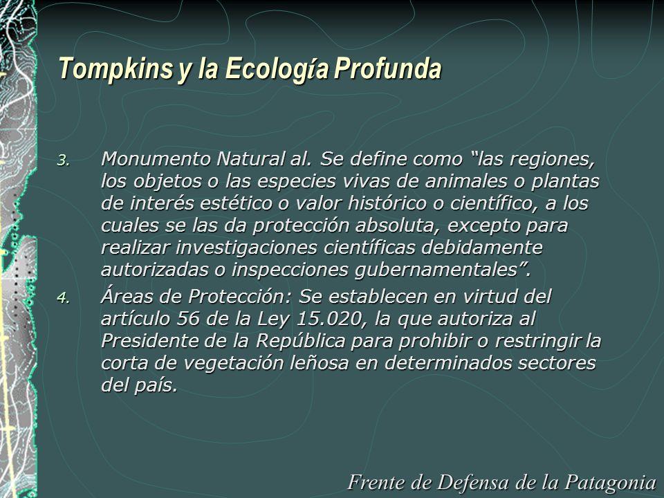 Tompkins y la Ecolog í a Profunda 5.Sitios de Patrimonio Mundial, Cultural y Natural.