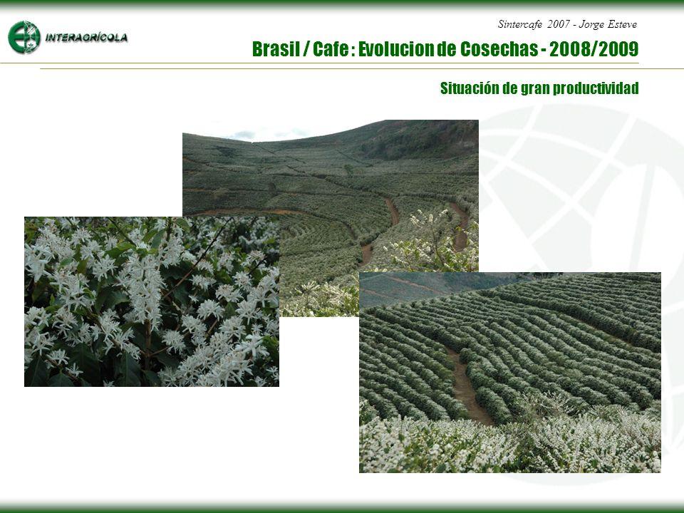 Sintercafe 2007 - Jorge Esteve Brasil / Cafe : Evolucion de Cosechas - 2008/2009 Situación de gran productividad