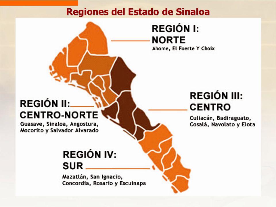 Regiones del Estado de Sinaloa