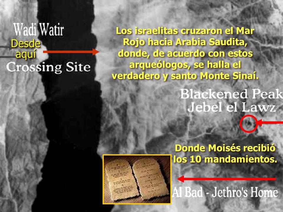 ¡Ron Wyatt encontró los dos pilares del rey Salomón, colocados en ambas playas, para conmemorar el cruce del Mar Rojo! En las letras fenicias (hebreo