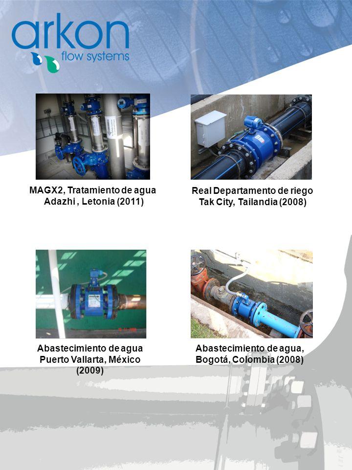 Abastecimiento de agua Puerto Vallarta, México (2009) Real Departamento de riego Tak City, Tailandia (2008) Abastecimiento de agua, Bogotá, Colombia (