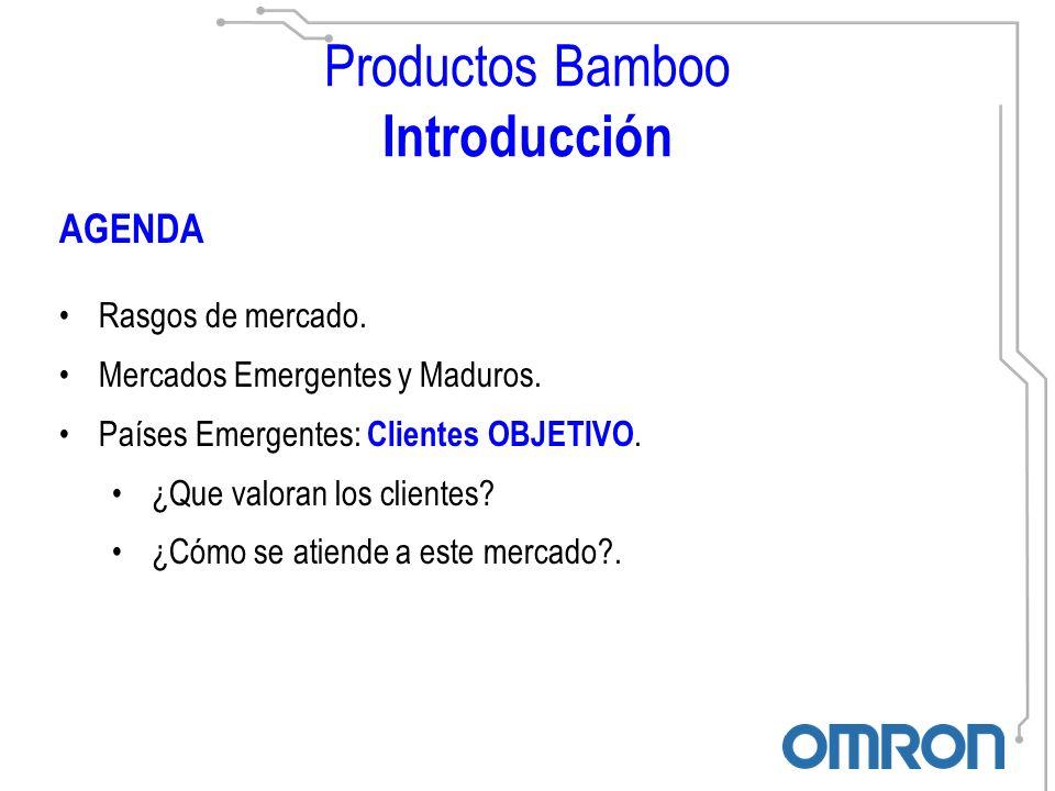 AGENDA Rasgos de mercado. Mercados Emergentes y Maduros.