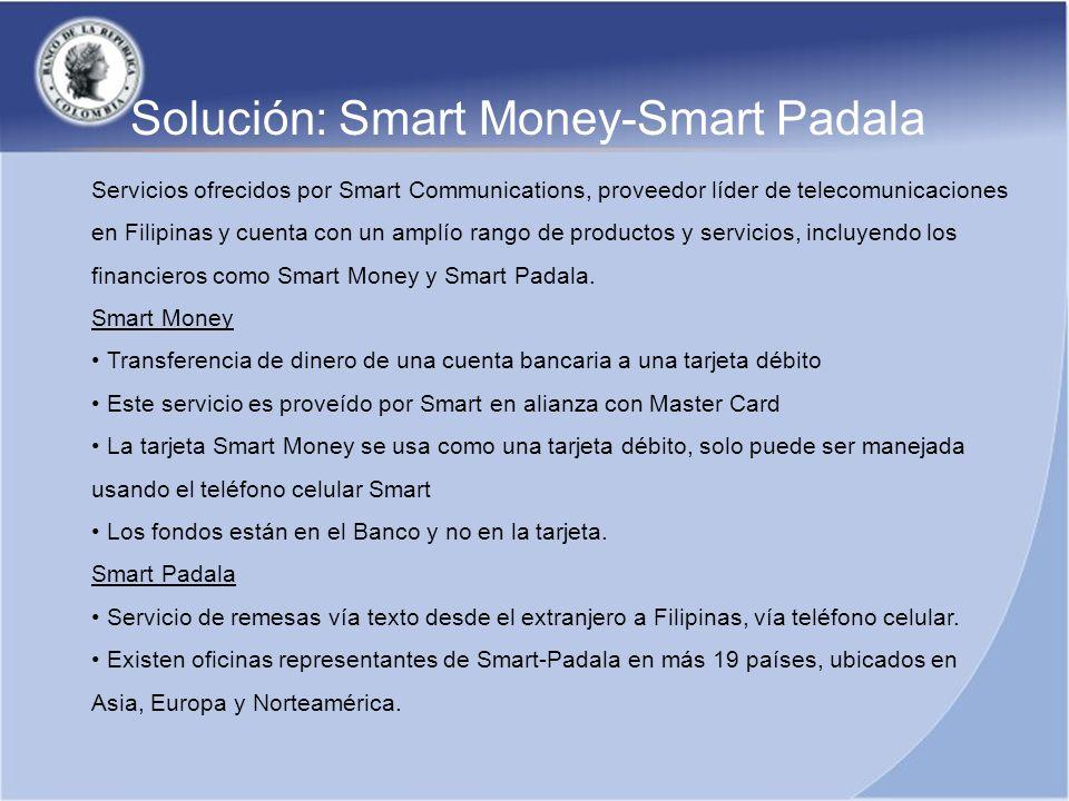 Servicios ofrecidos por Smart Communications, proveedor líder de telecomunicaciones en Filipinas y cuenta con un amplío rango de productos y servicios
