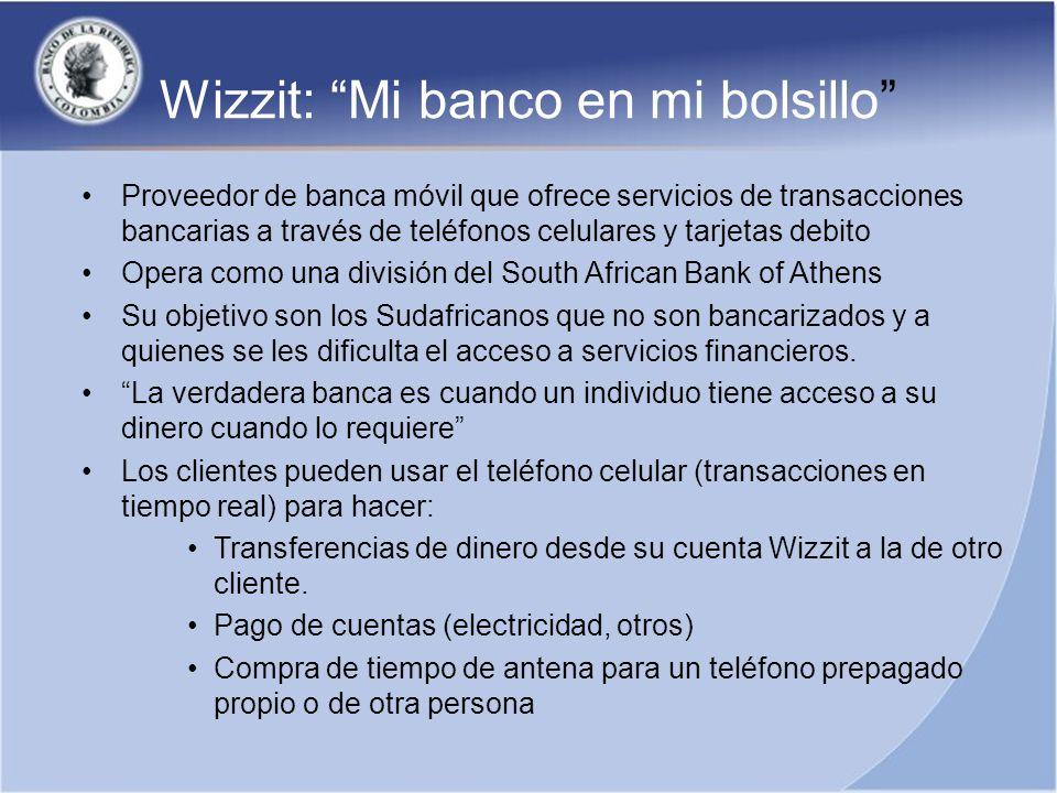 Proveedor de banca móvil que ofrece servicios de transacciones bancarias a través de teléfonos celulares y tarjetas debito Opera como una división del
