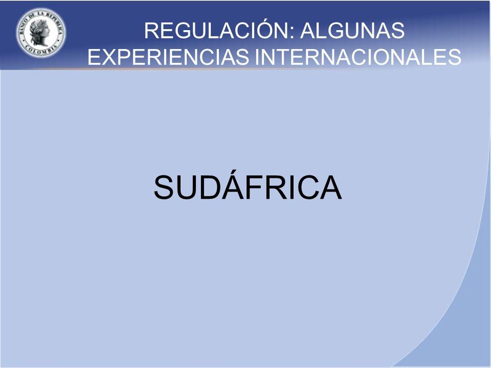 REGULACIÓN: ALGUNAS EXPERIENCIAS INTERNACIONALES SUDÁFRICA