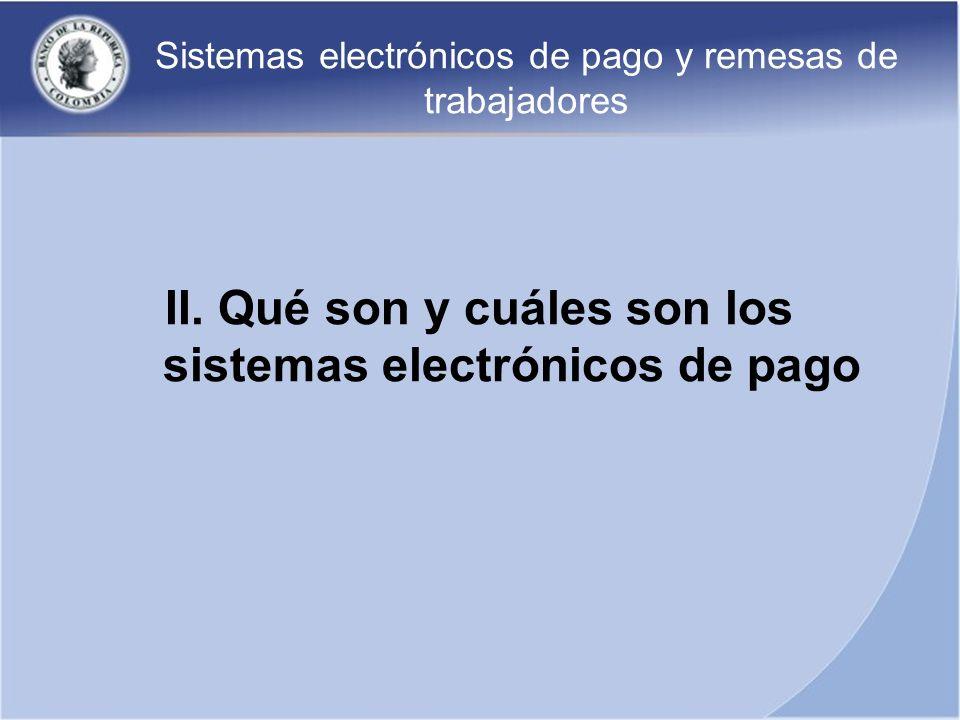 Sistemas electrónicos de pago y las remesas de trabajadores B.