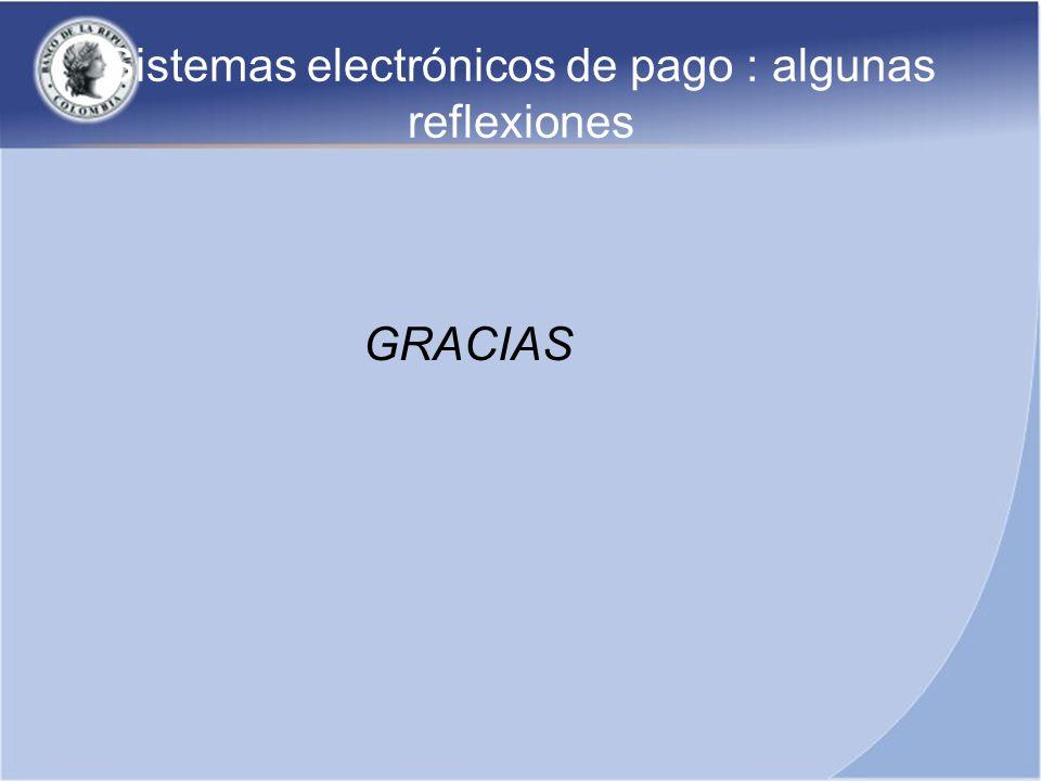 Sistemas electrónicos de pago : algunas reflexiones GRACIAS