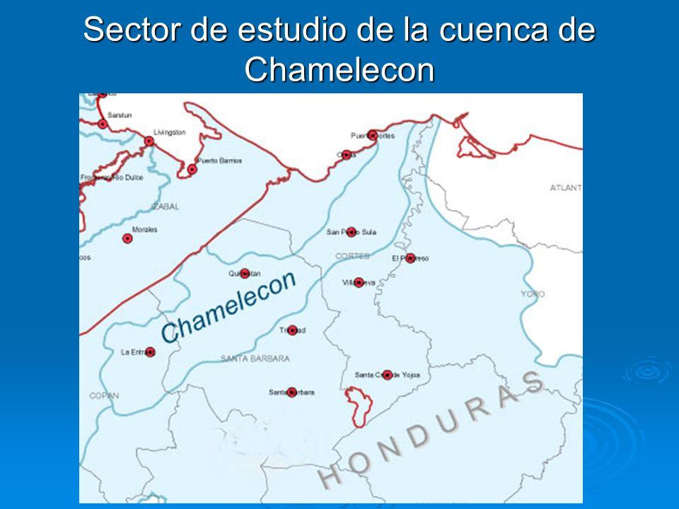 Sector de estudio de la cuenca de Chamelecon
