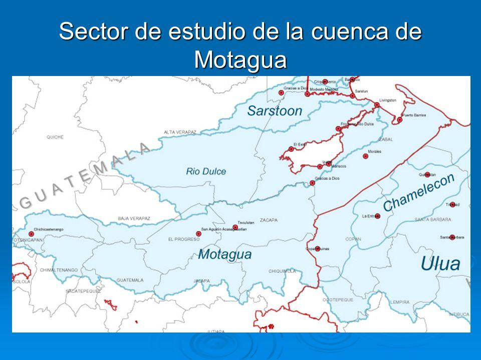Sector de estudio de la cuenca de Motagua