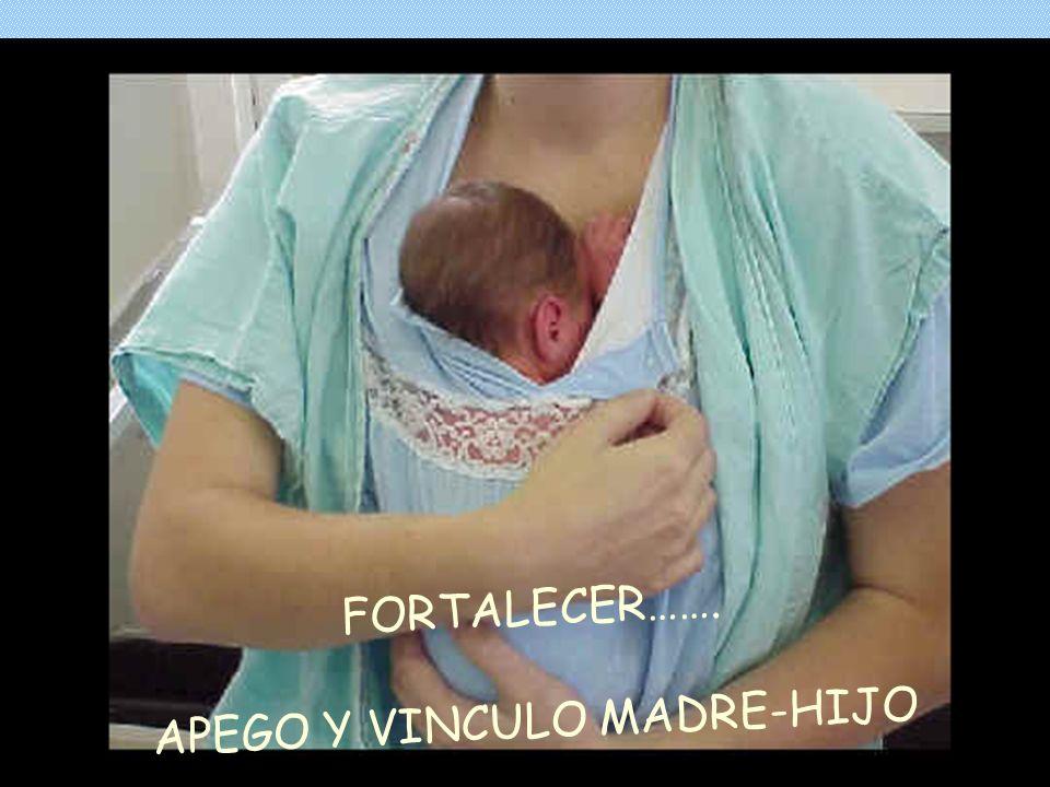 FORTALECER……. APEGO Y VINCULO MADRE-HIJO