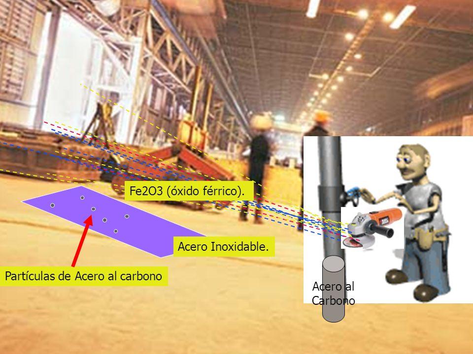 Enero 2010 Acero al Carbono Partículas de Acero al carbono Acero Inoxidable. Fe2O3 (óxido férrico).