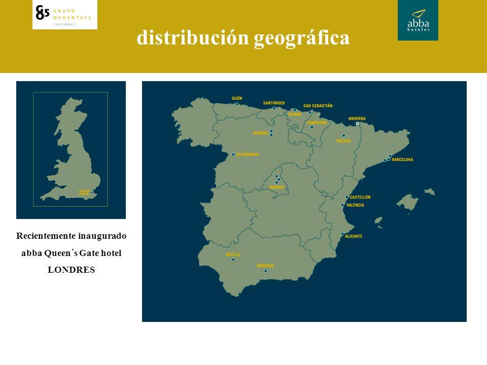 distribución geográfica Recientemente inaugurado abba Queen´s Gate hotel LONDRES