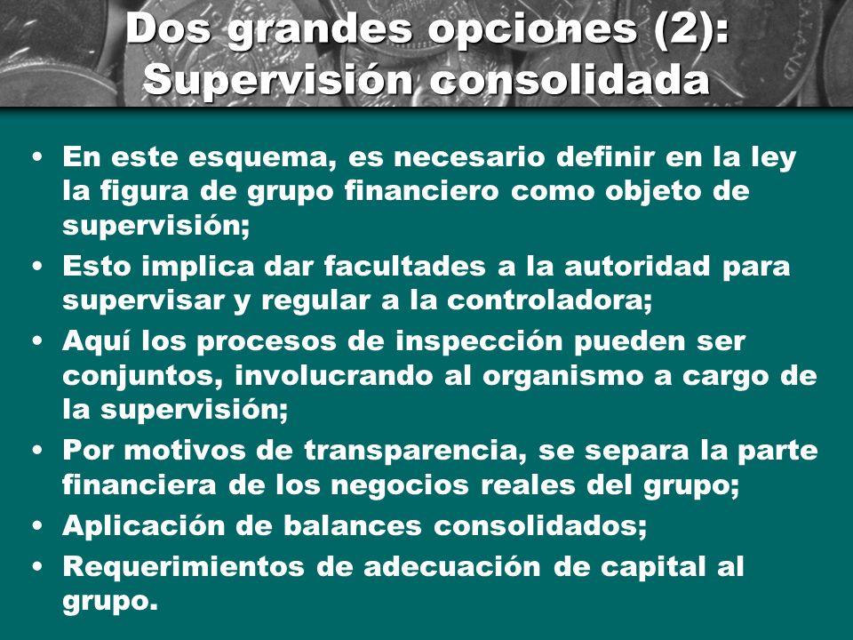 Dos grandes opciones (1): Solo plus supervision ==> Esta propuesta descansa básicamente en complementar un esquema de supervisión funcional para tener