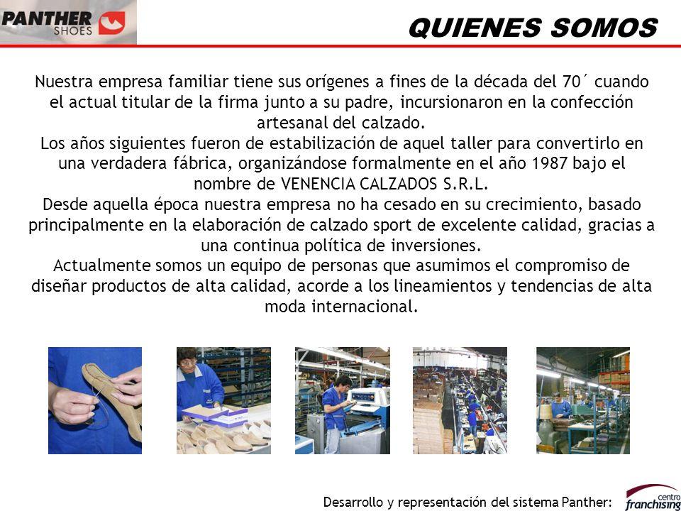 Desarrollo y representación del sistema Panther: NUESTROS PRODUCTOS En nuestra planta industrial de la ciudad de Córdoba, República Argentina, desarrollamos calzado sport e informal en líneas urbano deportivas.