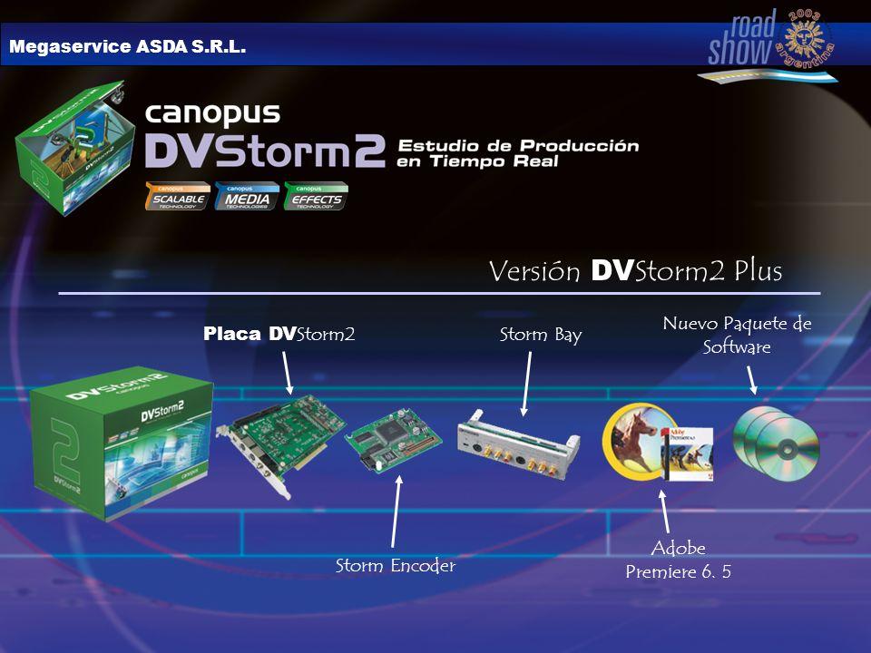 Megaservice ASDA S.R.L. Placa DV Storm2 Storm Bay Storm Encoder Nuevo Paquete de Software Adobe Premiere 6. 5 Versión DV Storm2 Plus