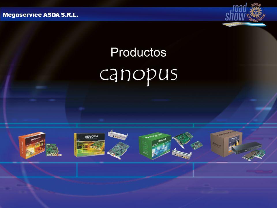 Megaservice ASDA S.R.L. Productos canopus