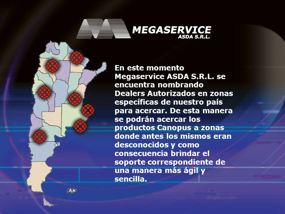 Megaservice ASDA S.R.L.Productos canopus Conclusión 1.Tecnología escalable.